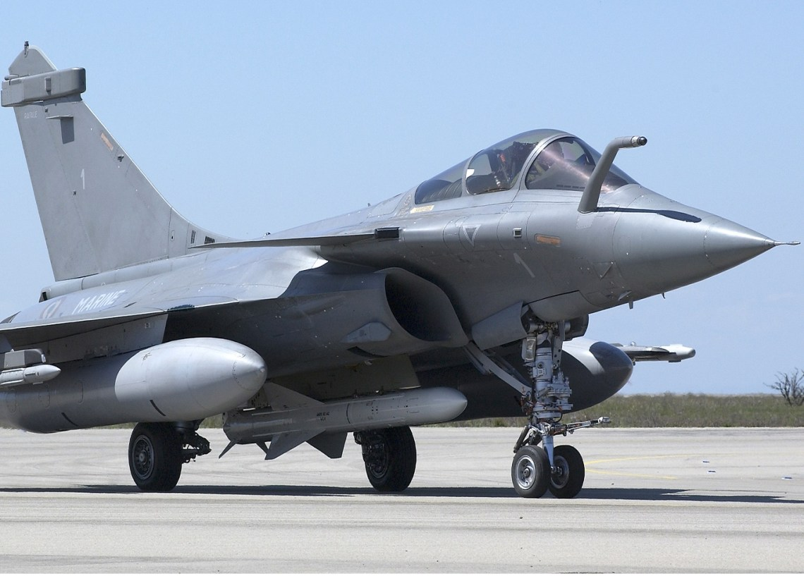 Exocet AM39 on French Navy Dassult Rafale Fighter