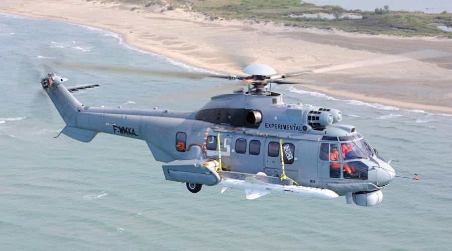 Exocet AM39 under Brazilian Navy EC725 Helicopter
