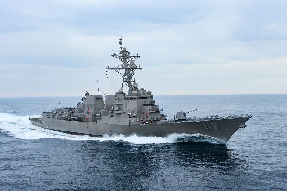 US Navy Arleigh Burke-class guided missile destroyer USS Delbert D. Black (DDG 119)