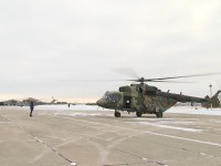 Russian Army Aviation Flight Tactical Exercisein the Urals