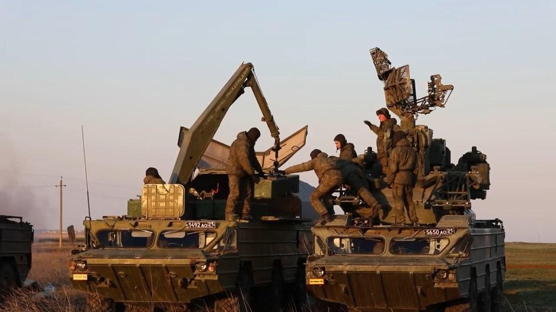 Russian Black Sea Fleet Anti Defense Conducted Missile Firing in Crimea
