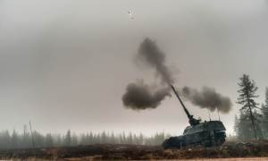 Royal Netherlands Army PzH 2000NL self-propelled howitzer