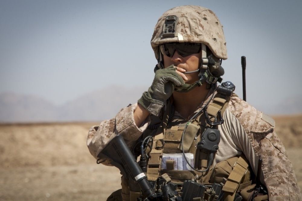 The Marine Corps released a request for information for a suite of hearing enhancement devices to help Marines communicate better and increase their lethality on the battlefield. Marine Corps Systems Command will assess industry's capability to provide devices that are compatible with Marine Corps radios and the Marine Corps Enhanced Combat Helmet. (U.S. Marine Corps photo by Staff Sgt. Ezekiel Kitandwe)