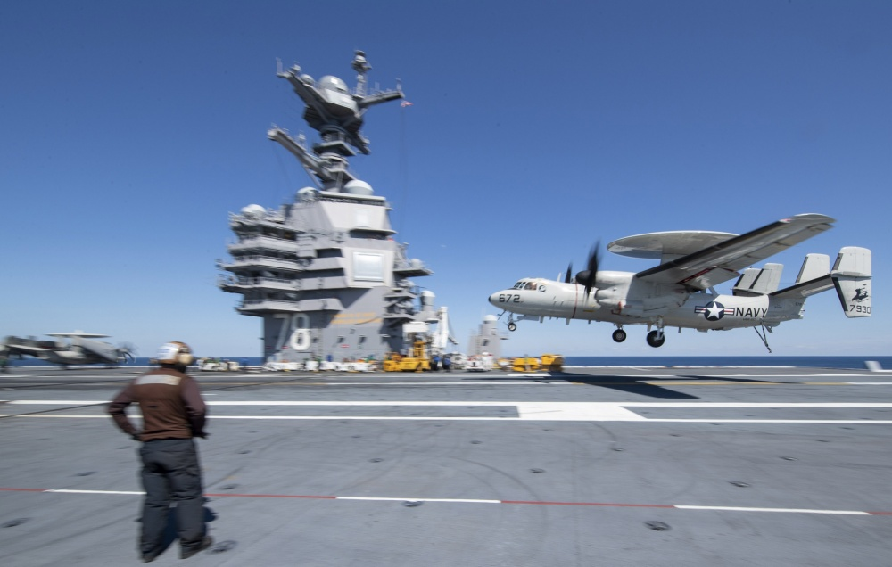 US Navy Advanced Hawkeye Squadron Logs 1,000th Aerial Refueling Contact