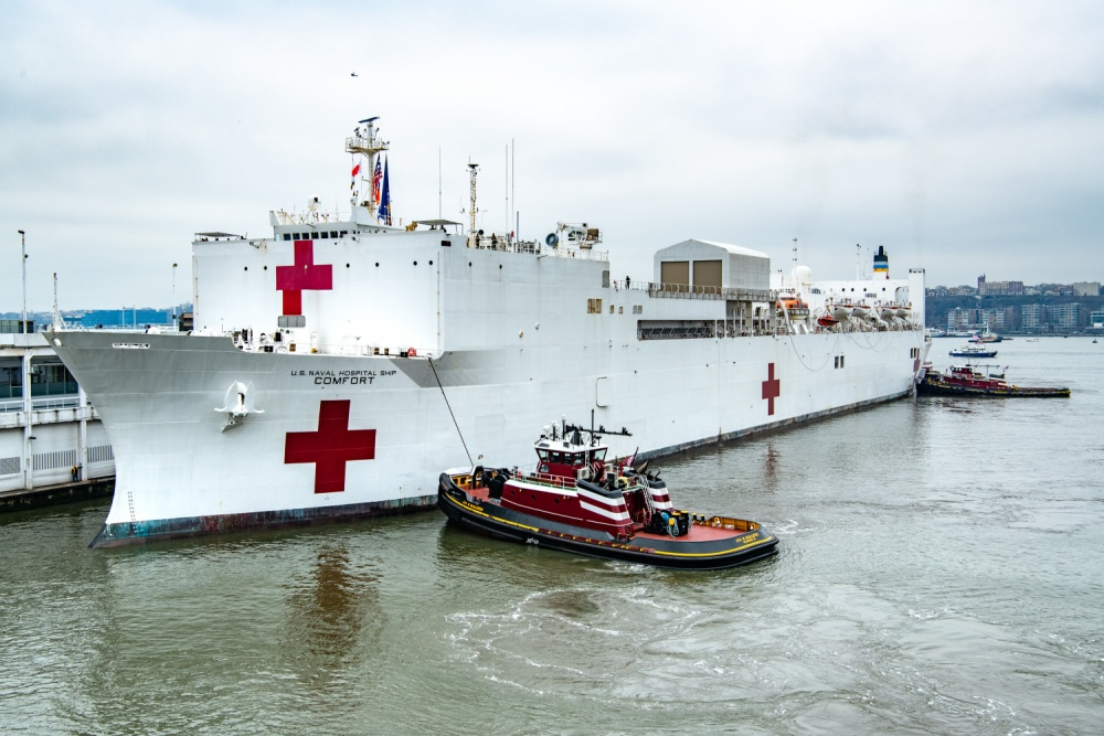USNS Comfort (T-AH 20) Treats First Patients in New York