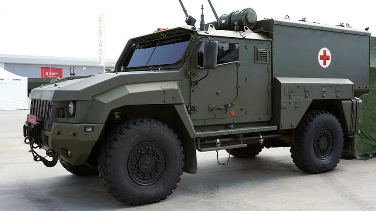 Russian Army Receives First Linza Mine-Resistant Medical Evacuation Vehicles