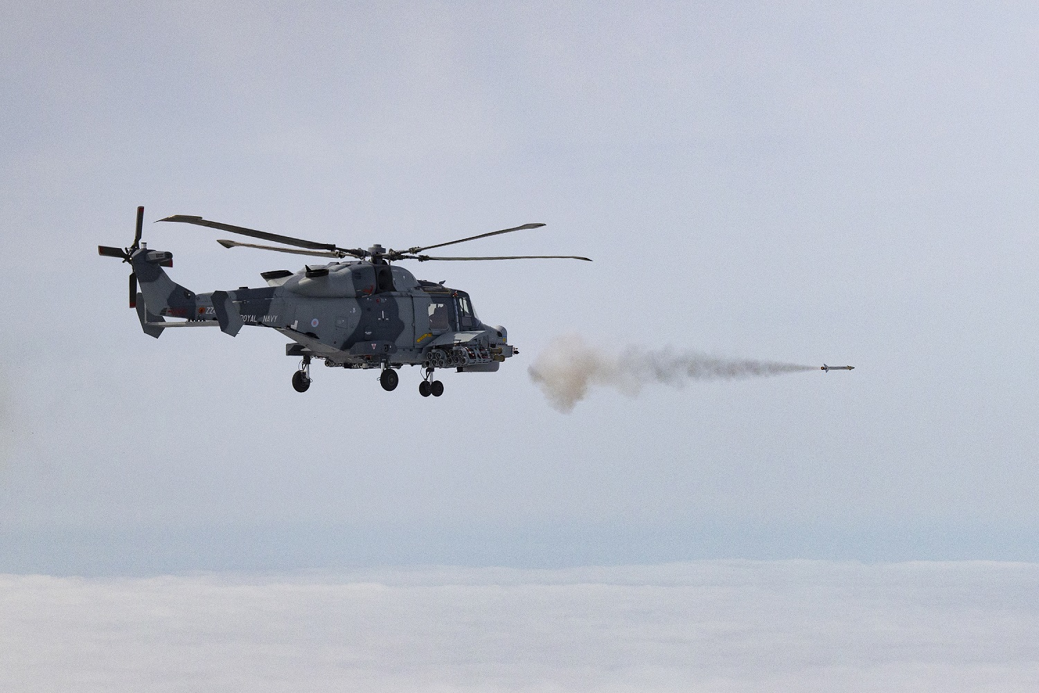Royal Navy Helicopter Unleashes New Martlet Missile to Protect Aircraft Carriers