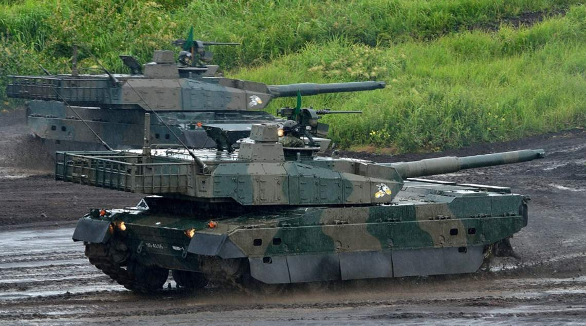 Japan Ground Self-Defense Force Type 10 Main Battle Tanks (MBT)