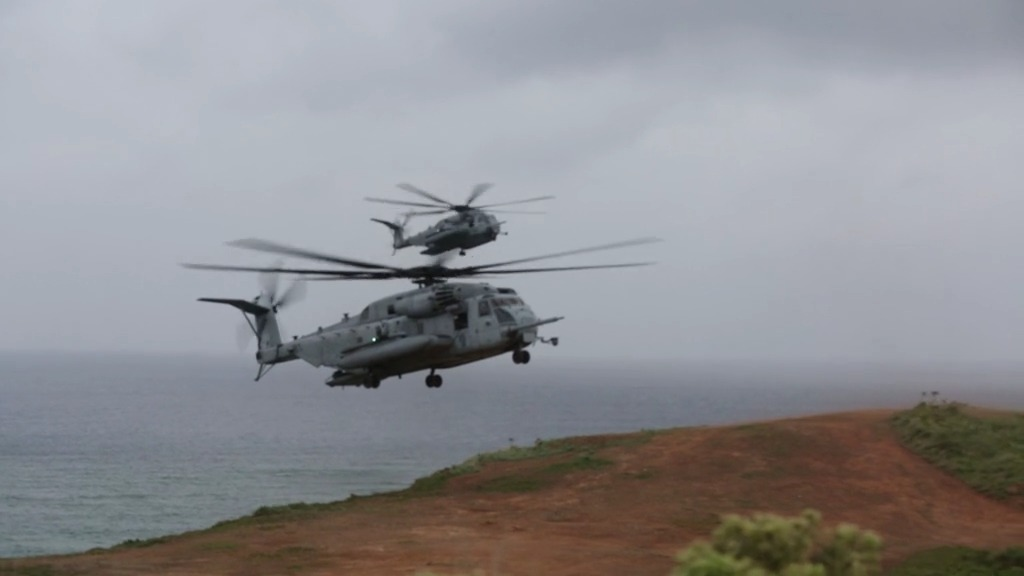 Marine Heavy Helicopter Squadron 466 Conduct Live Fire