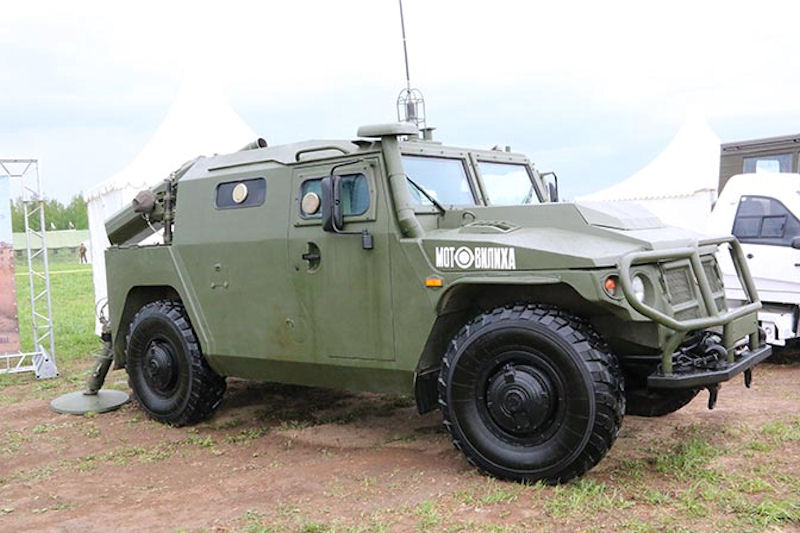 Russian MZ-204 Highlander 120-mm Self-Propelled Mortar Prototype Nearly Complete