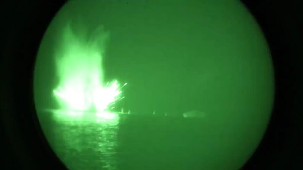 U.S. Naval Forces Train with AC-130W Gunship in Arabian Gulf