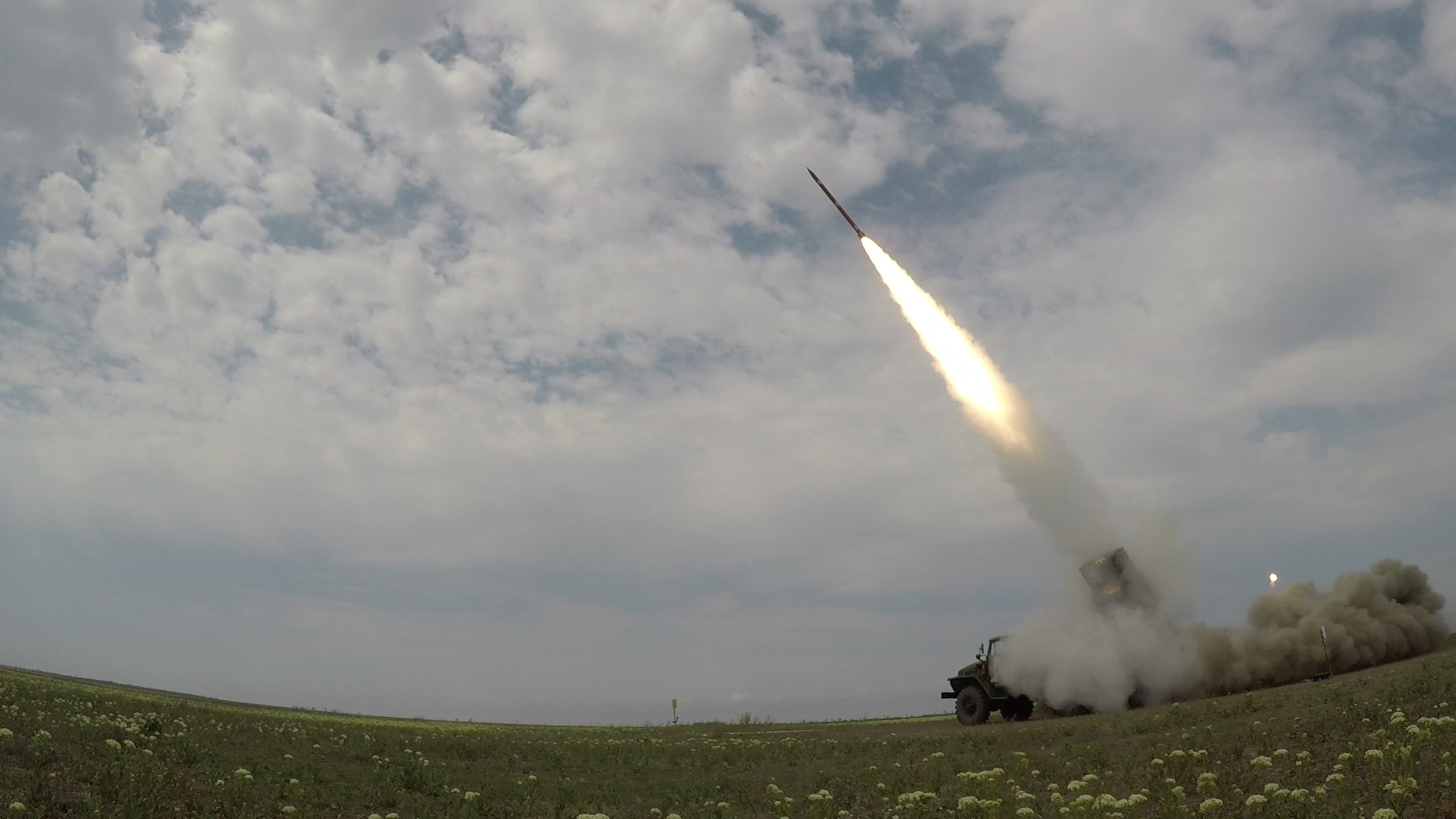 Ukrainian Armed Forces Tests 122 mm 9M221F Typhoon-1 Rocket