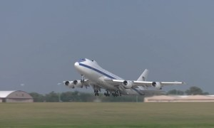 US Air Force Boeing E-4B Doomsday Plane Takeoff for Exercise