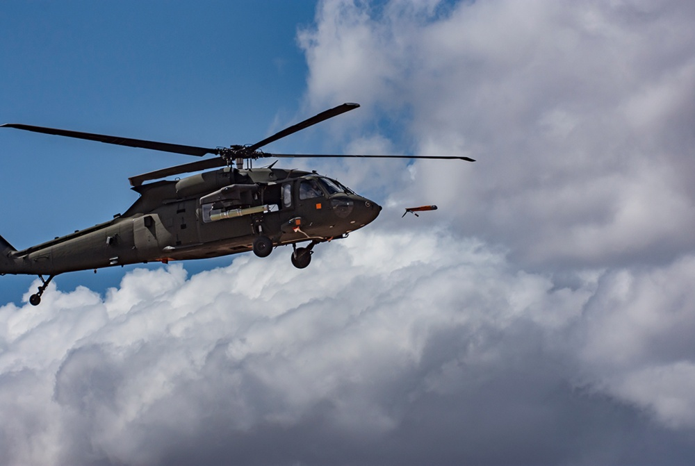 US Army UH-60 Black Hawk Demos Forward Air Launch of ALTIUS 600 UAV