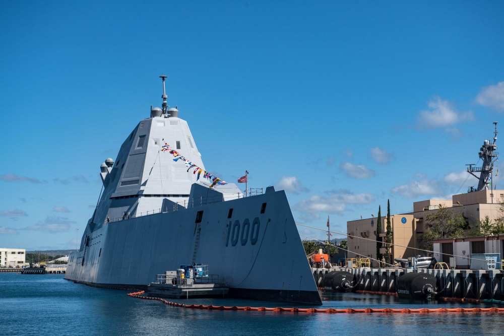 US Navy's USS Zumwalt Completes First Live Fire Test