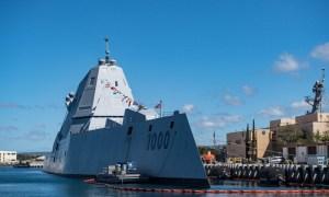 US Navy's USS Zumwalt Completes First Live Fire Test