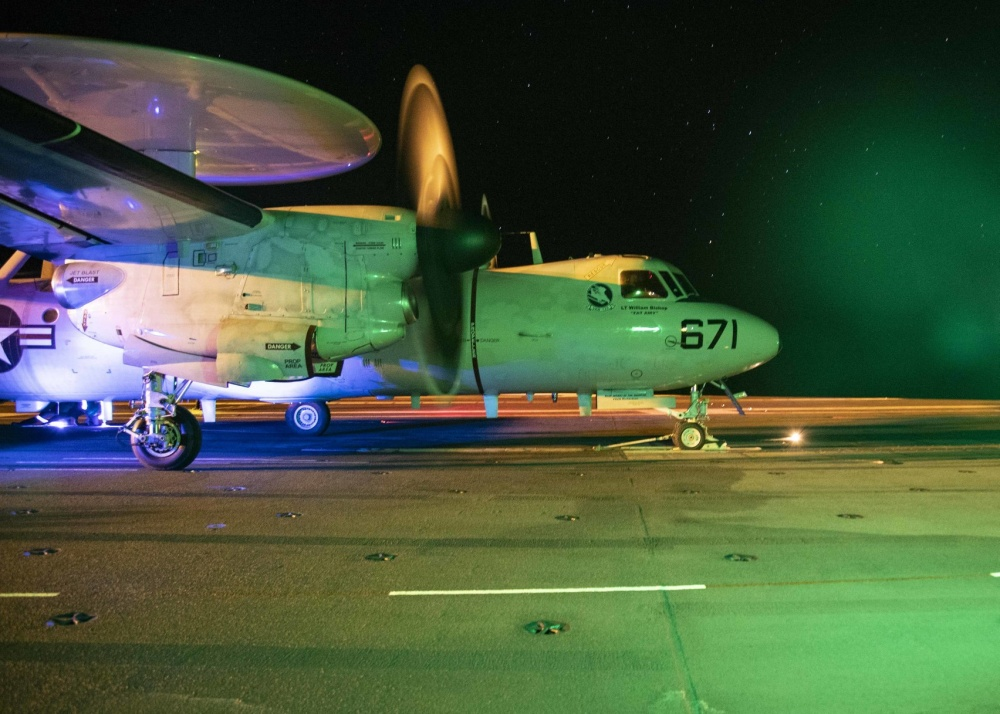 An E-2D Advanced Hawkeye, assigned to the