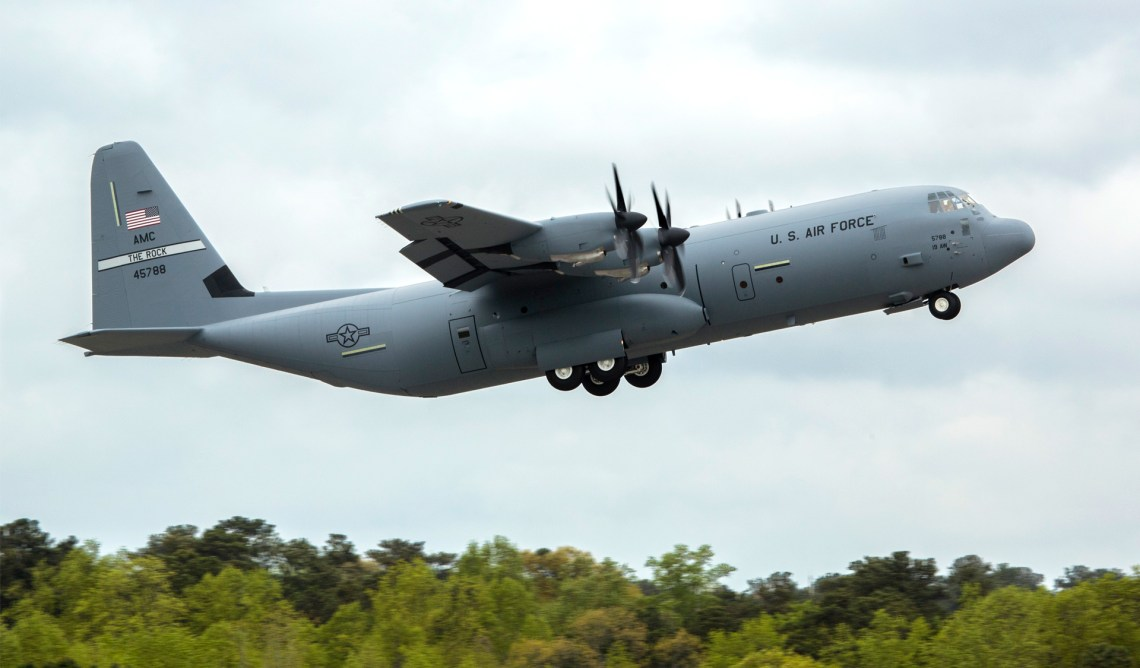 C-130J-30 Super Hercules Military Transport Aircraft