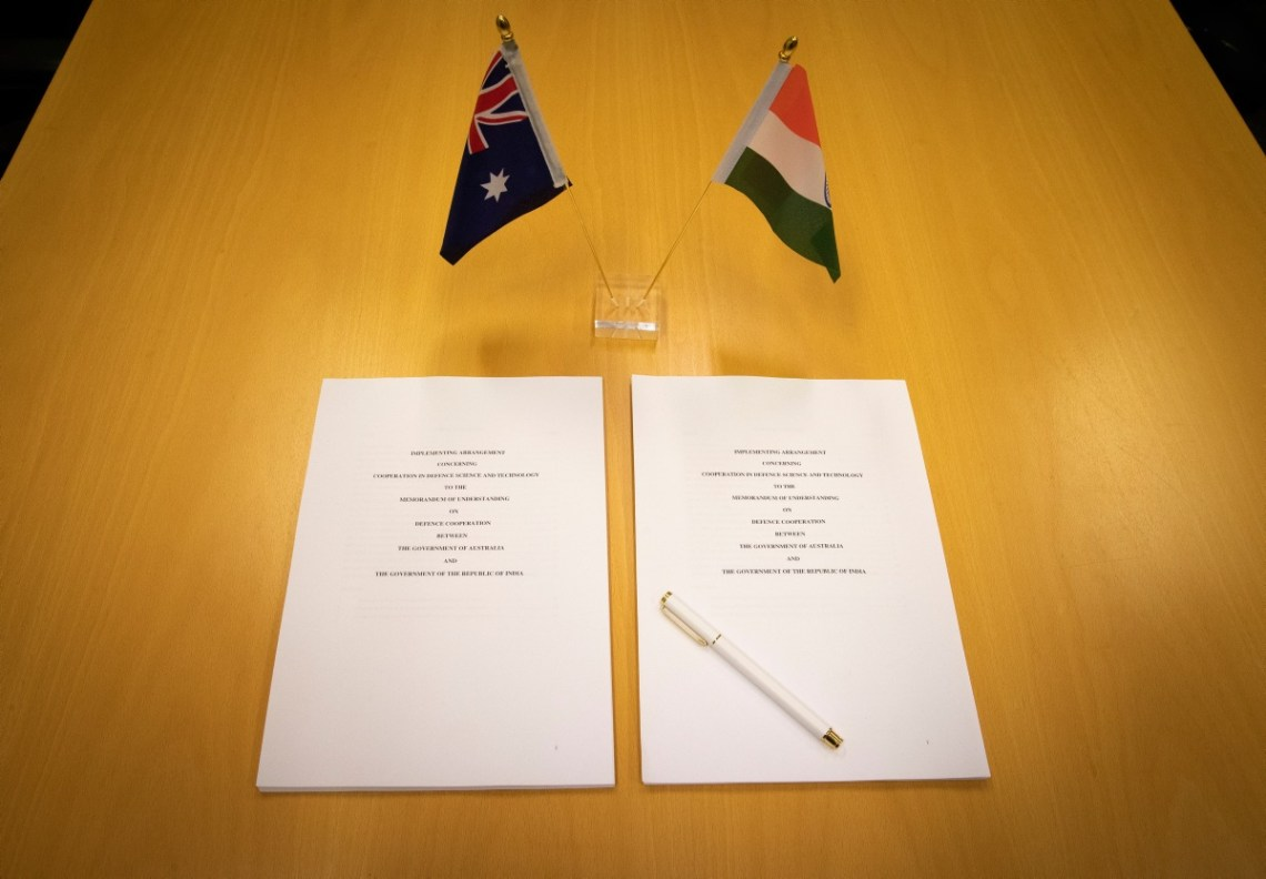 Australia and India Sign Defence Arrangement