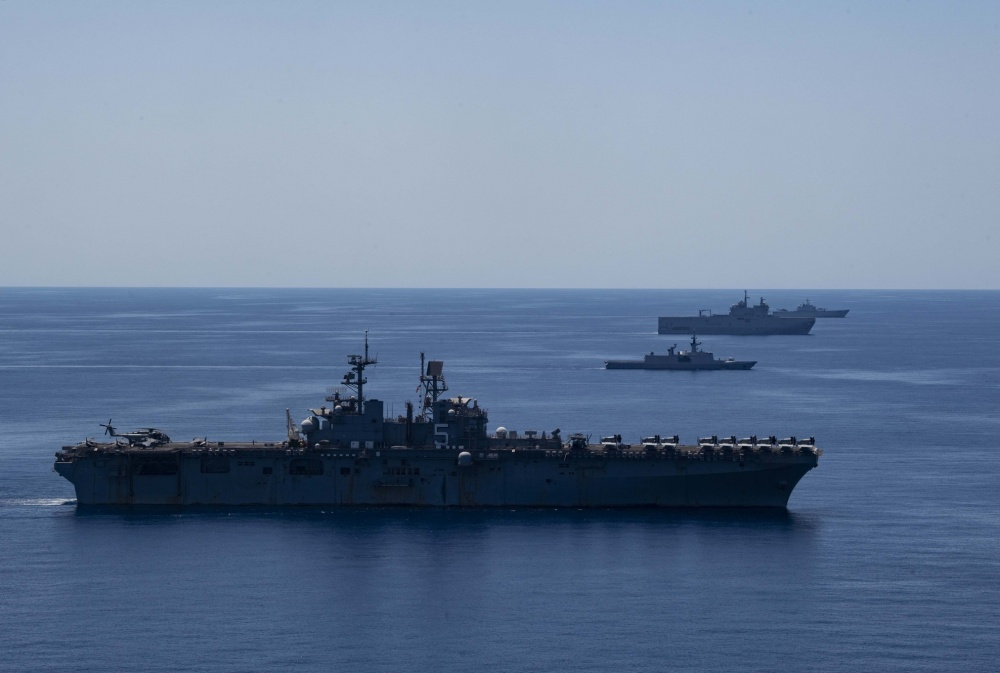 Bataan Amphibious Ready Group Conduct Maritime Training Exercise with Italian and French Navies