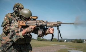 German Army Airborne Brigade 26 Tests New MG4 A3 Light Machine Gun