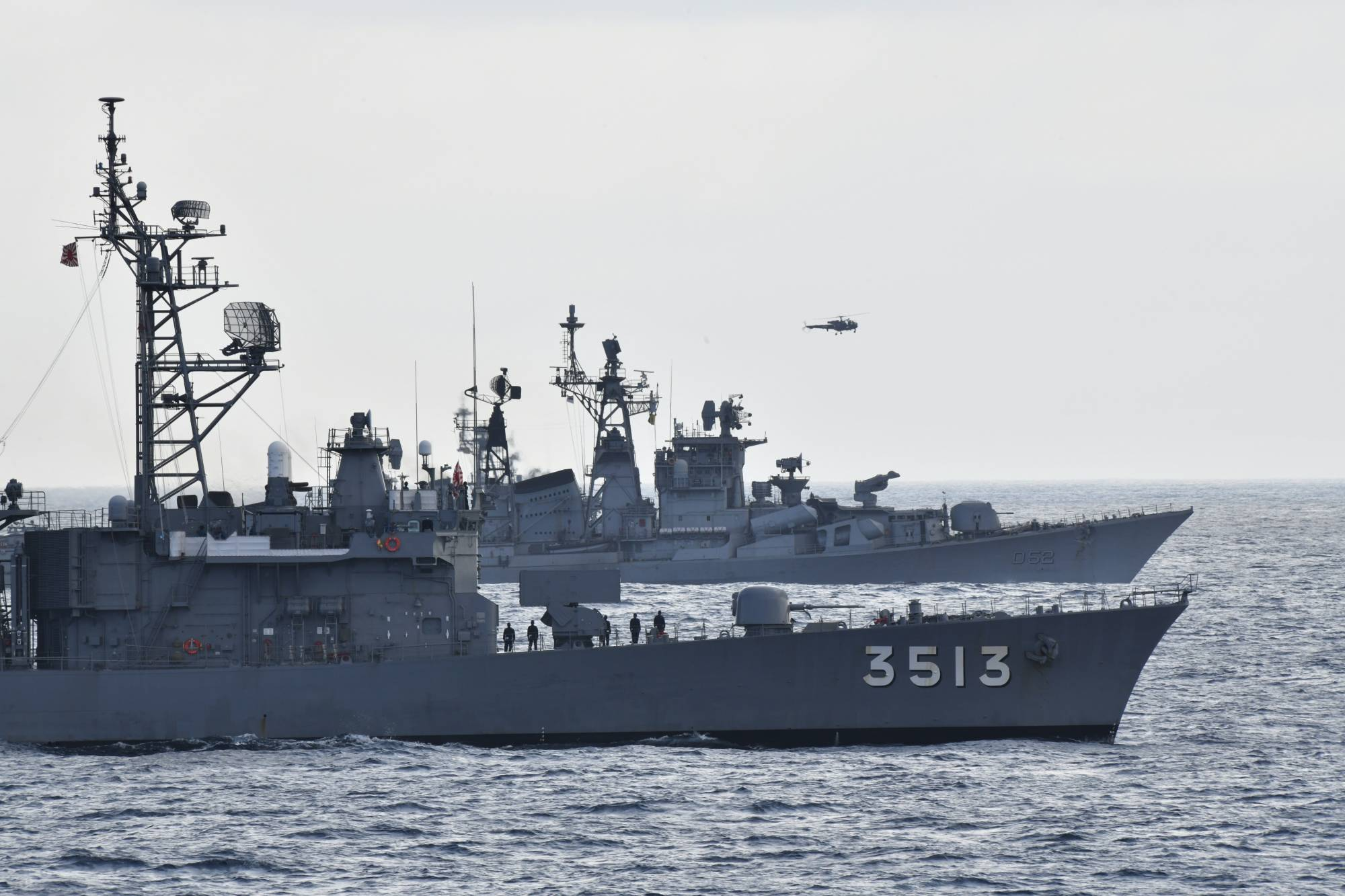 India and Japan Warships Conduct Naval Training Exercise Amid China Row