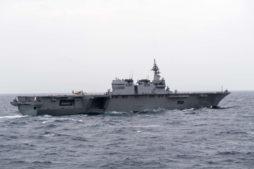 Japenese Izumo-Class Helicopter Destroyer Converted to Aircraft Carriers