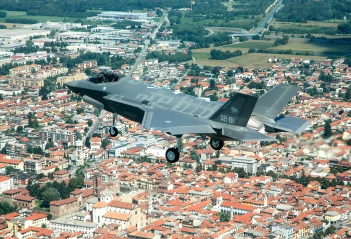 Italian Air Force F-35A stealth multirole combat aircraft