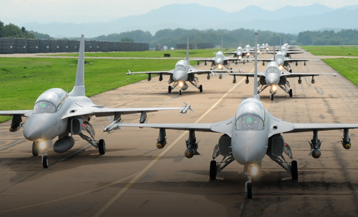 Republic of Korea Air Force TA-50 Advanced Trainers and Light Combat Aircraft