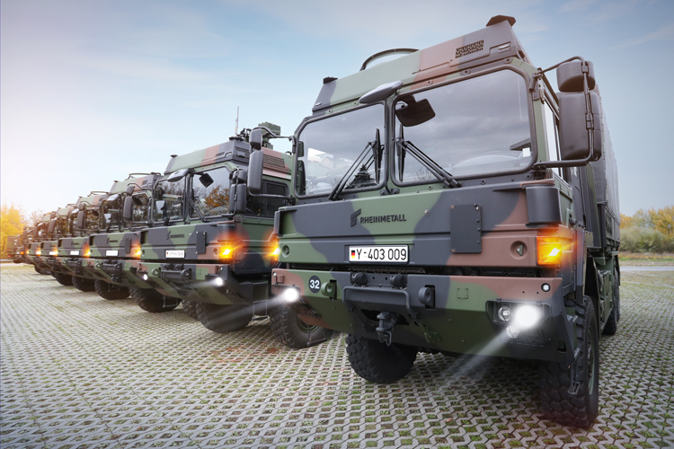 Rheinmetall MAN Military Vehicles (RMMV) has won a €348 million contract to deliver 540 (230 with armored cabs) HX eight-wheeled 'body swap' trucks from 2021. Total contract value is €2 billion, for up to 4,000 swap body systems.