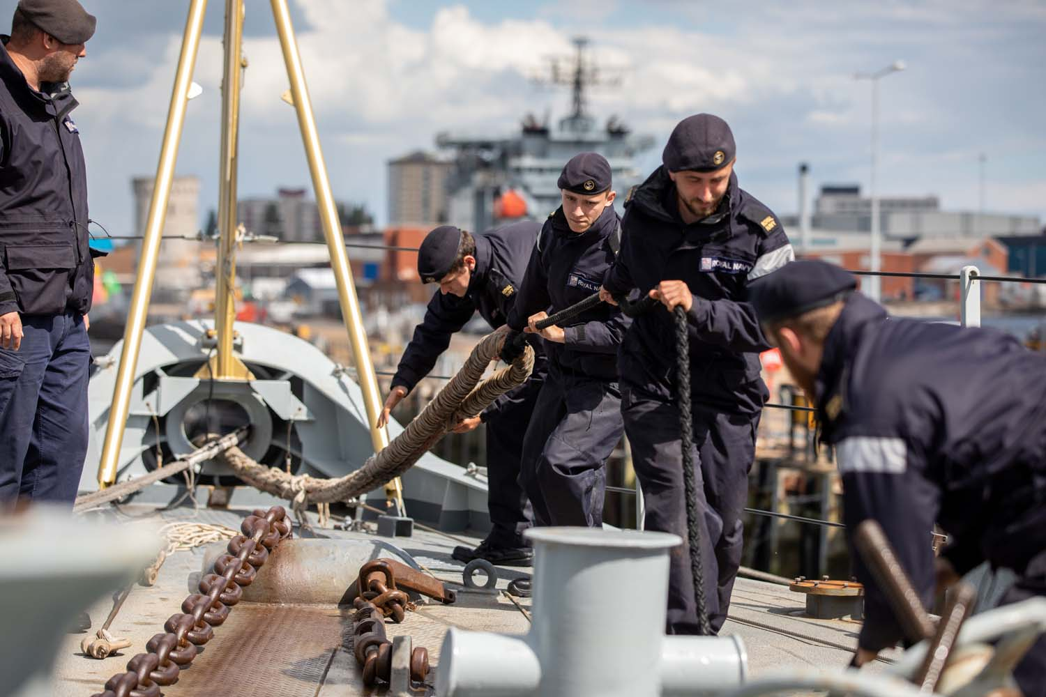 Royal Navy HMS Lancaster on Weapons Trials After Two-Year Refit
