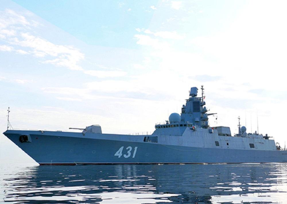 Russian Frigate Admiral Kasatonov Tests Anti-Torpedo Defense