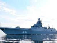 Russian Frigate Admiral Kasatonov Tests Anti-Torpedo Defense