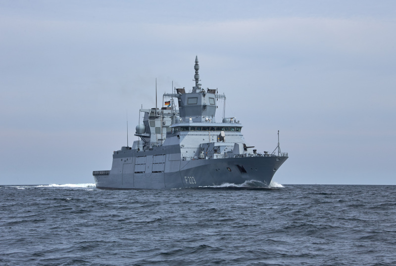 Second German Navy F125 Frigate Enters Service