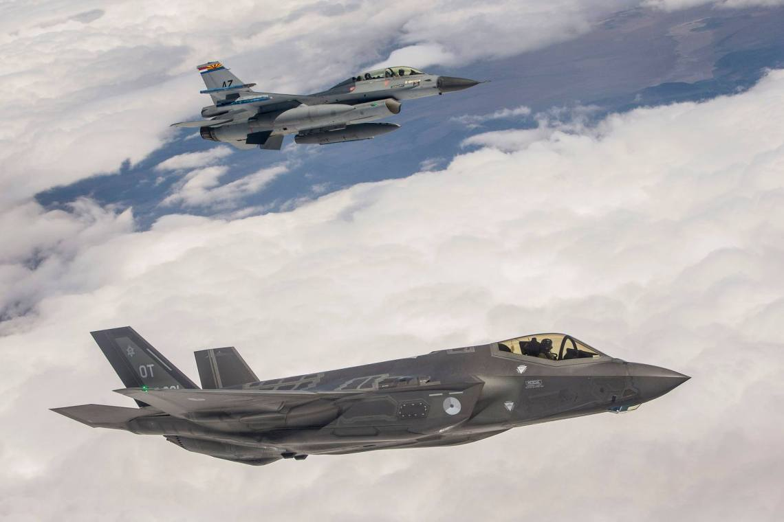 Royal Netherlands Air Force F-35A and F-16