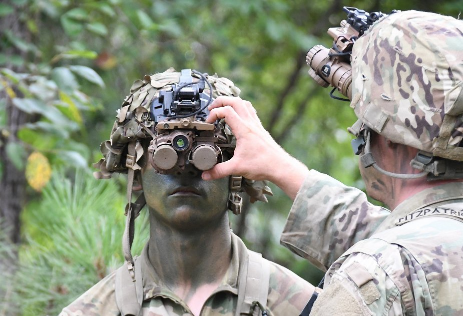 U.S. Army 10th Mountain Division Soldiers Test Enhanced Night Vision Goggle-Binocular (ENVG-B)