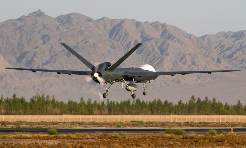 A maritime version of CASC Rainbow CH-5 drone. Photo: Sun Jing