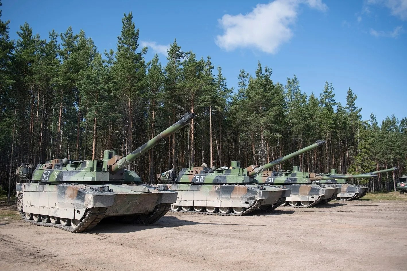 French Leclerc Tanks and VBCIs Joins NATO's eFP Battalion in Lithuania