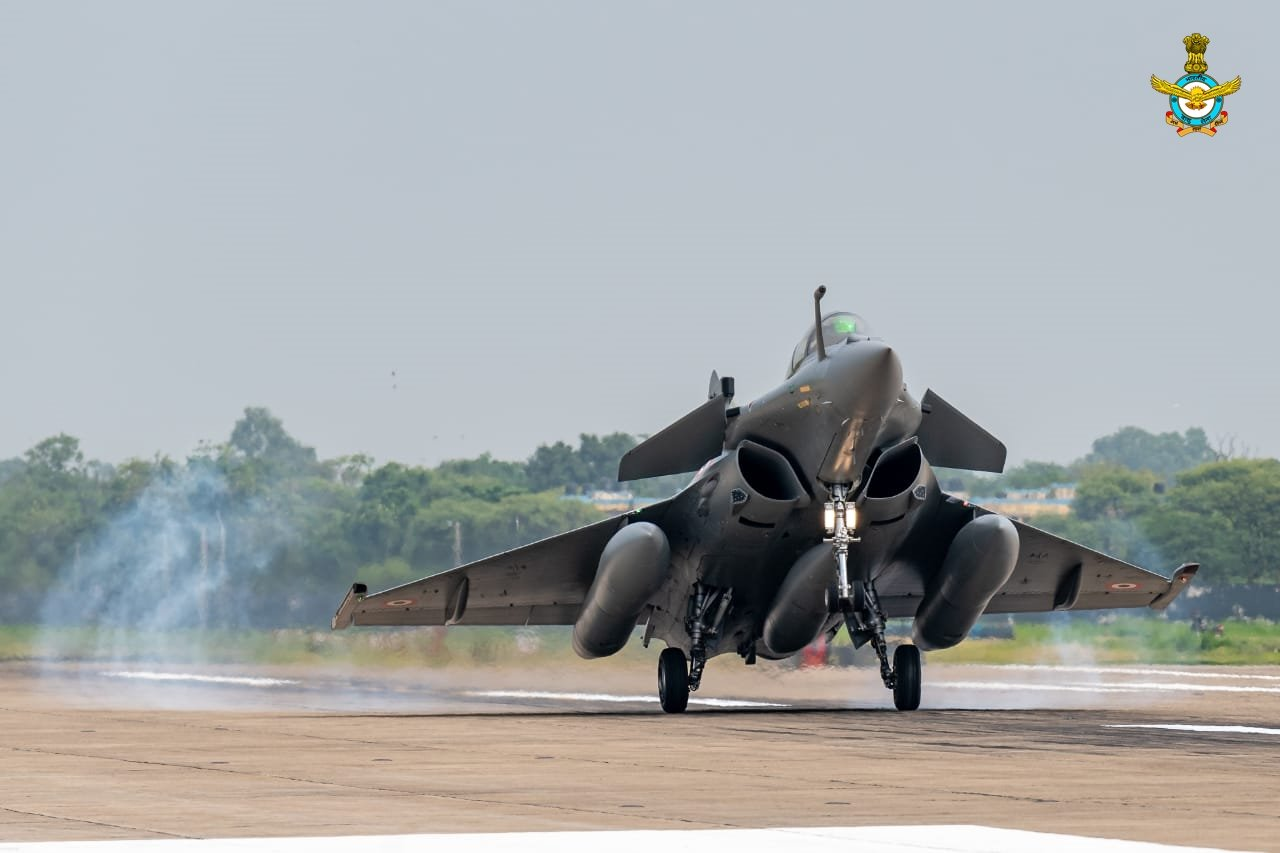 Indian Air Force Inducted Five Dassault Rafale fighters at Ambala Airbase