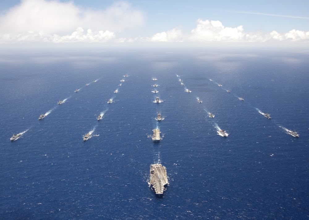 Ships and submarines participating in Rim of the Pacific (RIMPAC) exercise