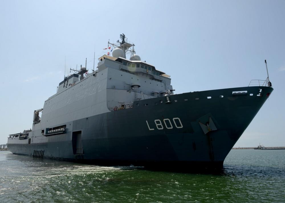 The Royal Netherlands Navy HNLMS Rotterdam (L800) Landing Platform Dock (LPD)