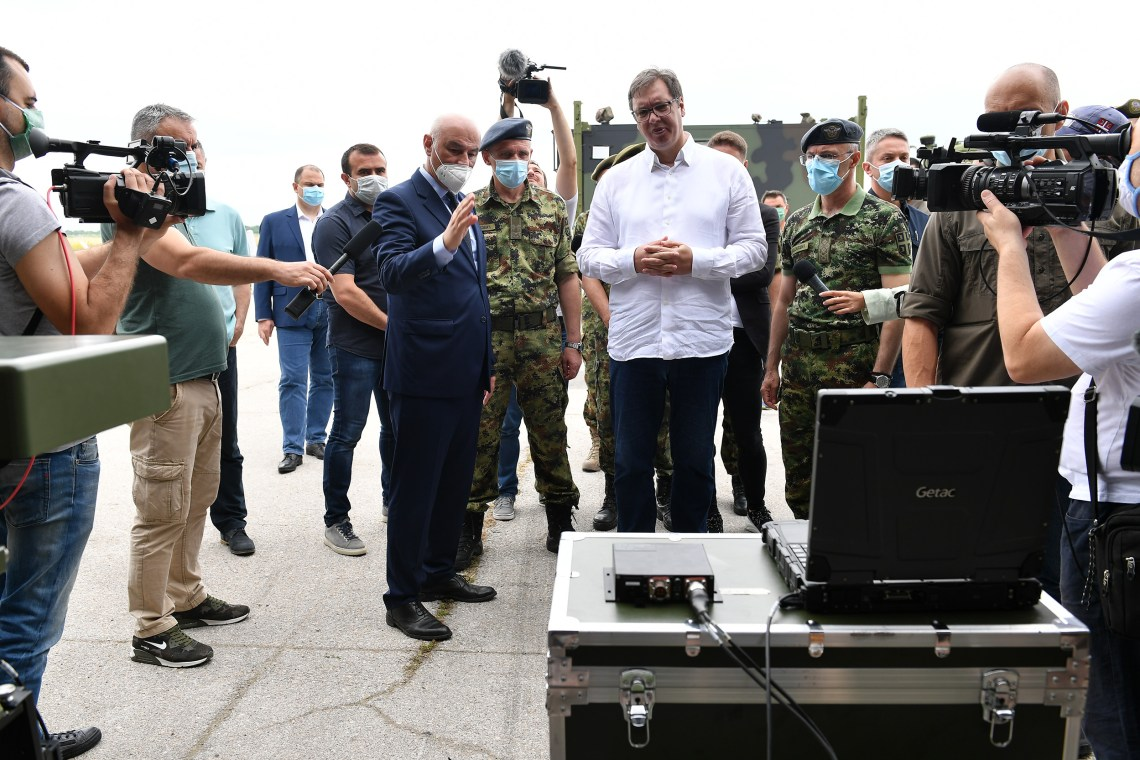 President of the Republic and Supreme Commander of the Serbian Armed Forces Attended Presentation of New Unmanned Aerial Vehicles of the Serbian Armed Forces CH-92А