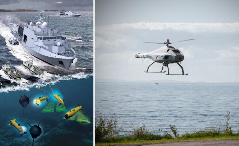 Skeldar V-200 Drone Selected for Belgian-Dutch Minehunter Program