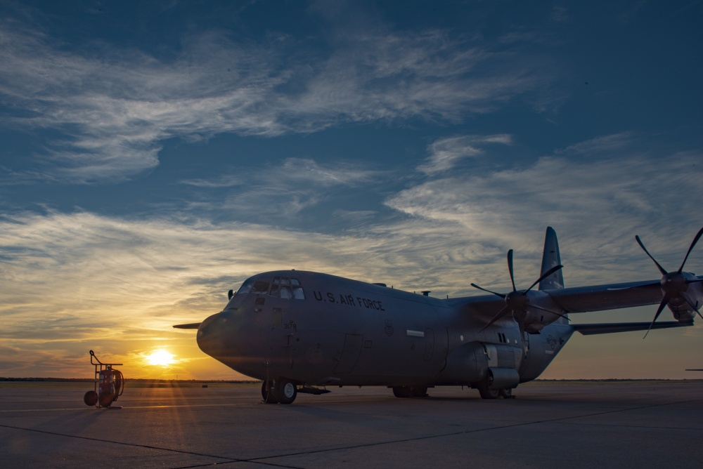 AC-130J Super Hercules sits on the flightline at Dyess Air Force Base, Texas, June 3, 2020. (U.S. Air Force photo by Airman 1st Class Colin Hollowell)