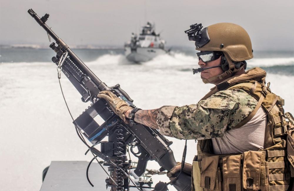 M240B 7.62x51mm machine gun aboard a MKVI patrol boat