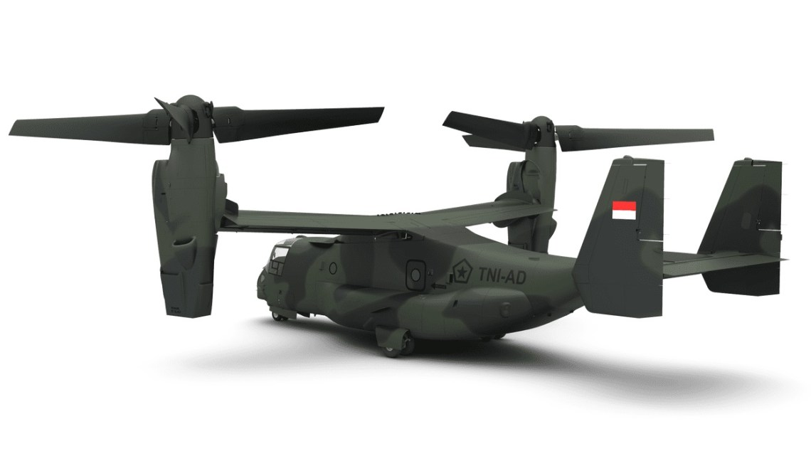 Bell Boeing MV-22 Block C Osprey for Indonesian Army