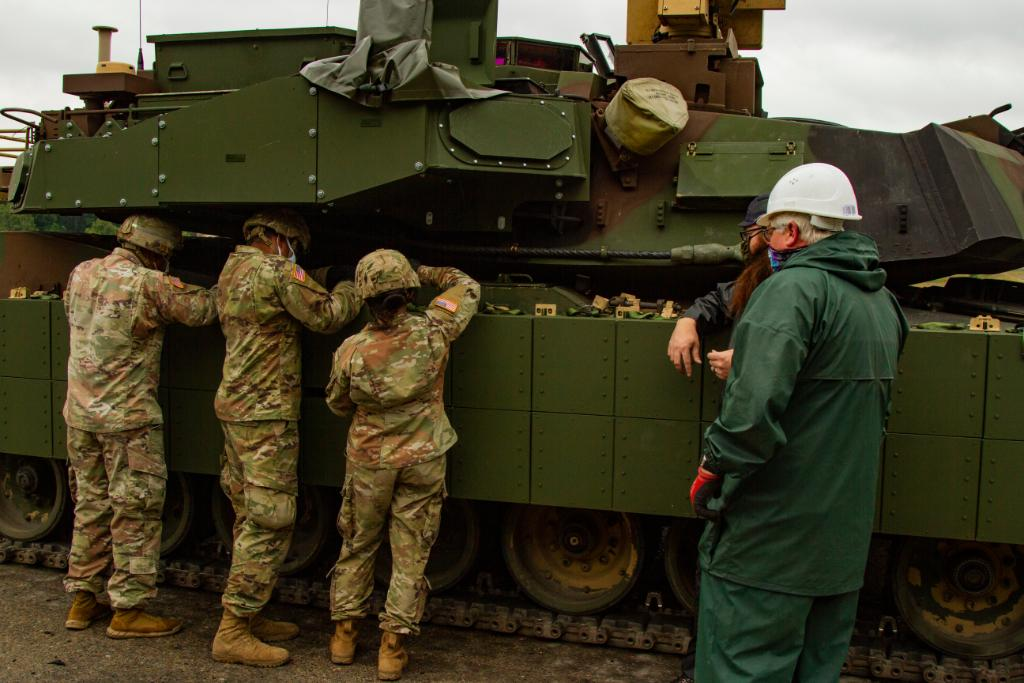 U.S. Army Deploys M1A2 Abrams Sep V2 Main Battle Tanks Fitted with Trophy Active Protection System (APS) to Germany