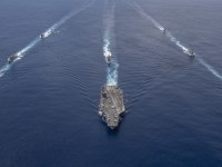 US Navy Nimitz Strike Group Participates in Cooperative Exercises with Indian Navy