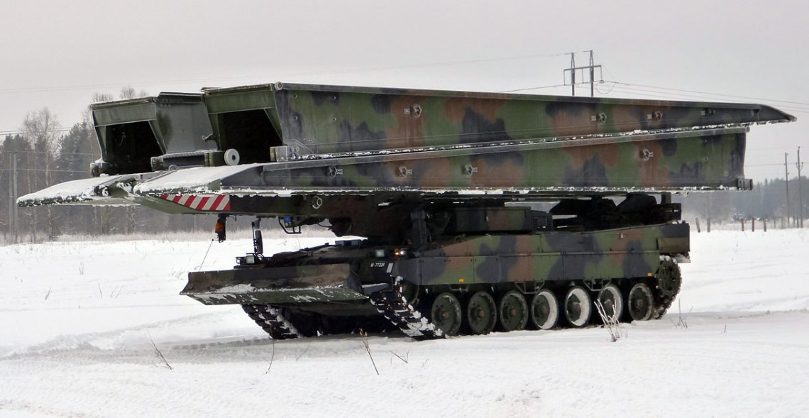 German Army Receives Further Leguan Leopard 2 Bridge Layer