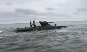 Baltic Fleet Naval Infantry BTR-82 APCs Conducts Amphibious Landing Exercises